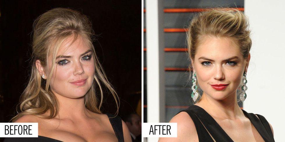Việc giảm cân không chỉ có tác động tích cực lên thân hình mà còn cả gương mặt Kate Upton.