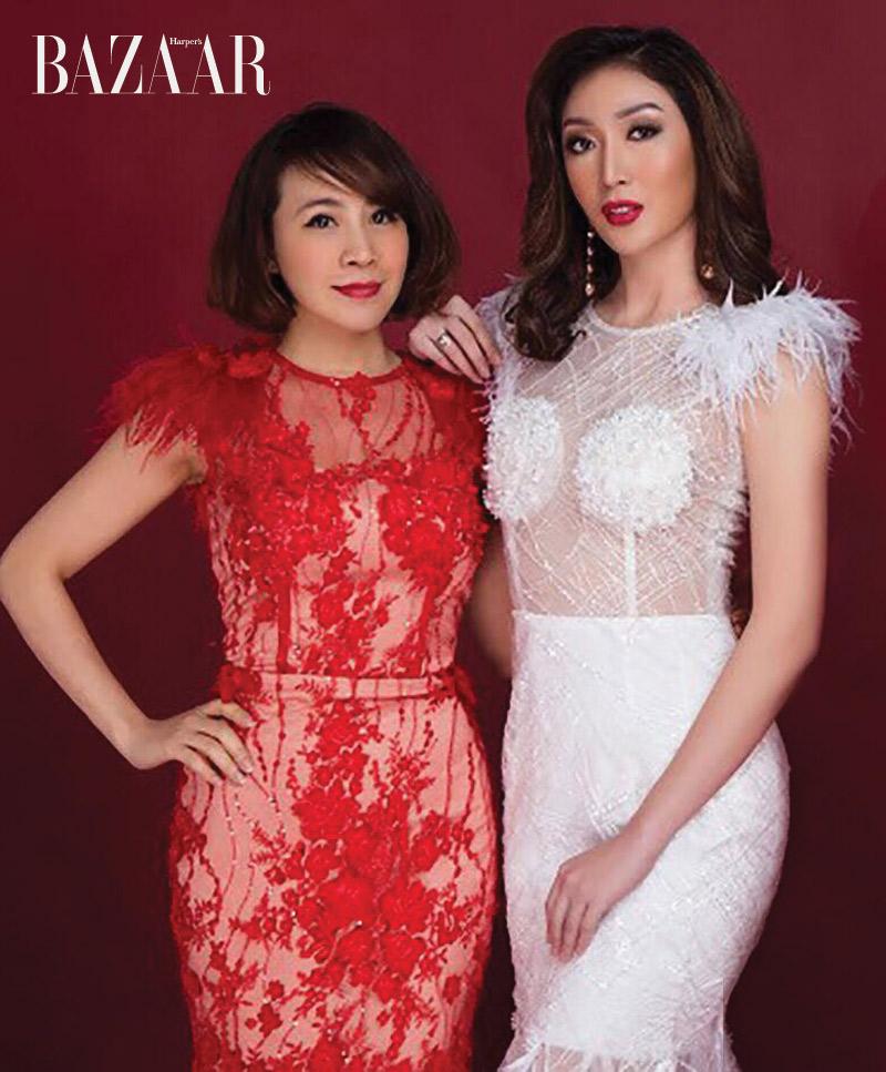 Nhà thiết kế Tuyết Lê cùng Karren Ibasco