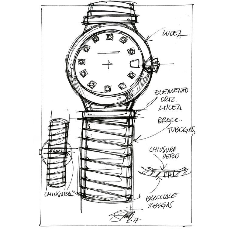 Thiết kế sơ khai của đồng hồ Tubogas.