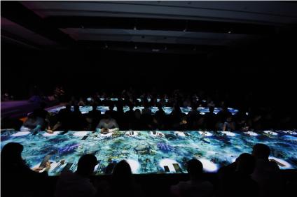 Một trải nghiệm ẩm thực đầy mê đắm được tạo ra bởi kĩ thuật 3D Mapping ngay trên bàn tiệc H-Gourmet