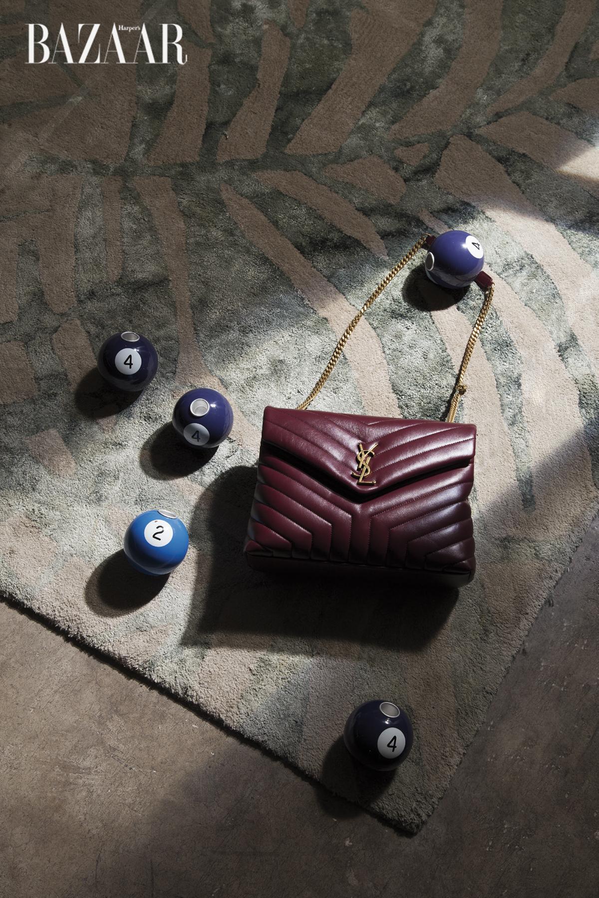 Túi xách nắp gập dây đeo sợi xích, Saint Laurent