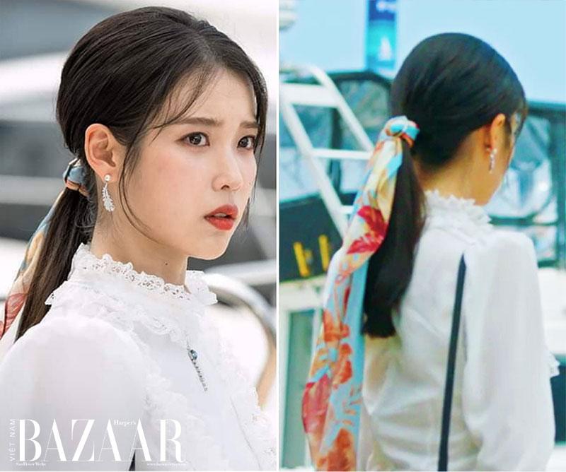 Kiểu tóc đơn giản đi chơi: Tóc đuôi ngựa thấp