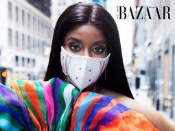 Jovana Benoit biến khẩu trang thành phụ kiện thời trang cao cấp