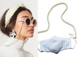 Xu hướng thời trang hot: Khẩu trang có dây đeo, phụ kiện lóa mắt đi kèm