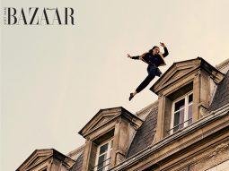 Saint Laurent Men Xuân Hè 2021 mời người mẫu chơi parkour trên mái nhà cheo leo