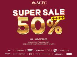 ACFC Super Sale 2020: Hàng loạt thương hiệu quốc tế giảm giá 50%++++