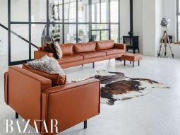 Cách trang trí nhà cửa với đồ nội thất chất liệu da sang trọng