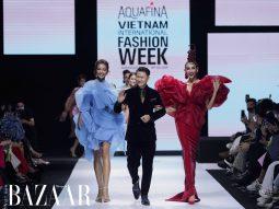 Hoàng Minh Hà biến Võ Hoàng Yến thành đóa hồng trên sàn diễn AVIFW 2020