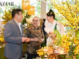 Hoa hậu Hà Kiều Anh trổ tài làm MC tại tiệc trà chiều của doanh nhân Dương Quốc Nam
