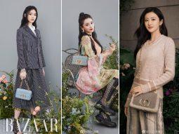 Cách đeo túi Dior Caro đi làm, đi chơi như Angelababy, Bae Suzy, Vương Tử Văn