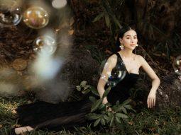Hoa hậu Trái đất Phương Khánh diện đầm dạ hội Trần Hùng đi xe bus du xuân