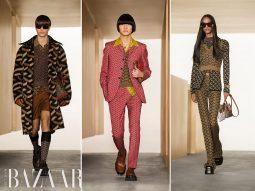 Versace Thu Đông 2021: Donatella Versace debut họa tiết monogram mới
