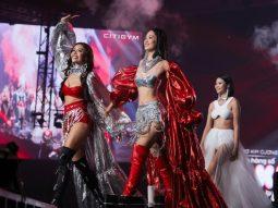 Tiểu Vy, Minh Tú diện bikini của NTK Hà Nhật Tiến tại concert Rap Việt All-Star