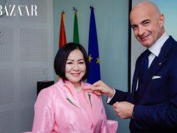 Bà Trang Lê nhận Huân chương Công trạng từ Tổng thống nước Cộng hoà Ý