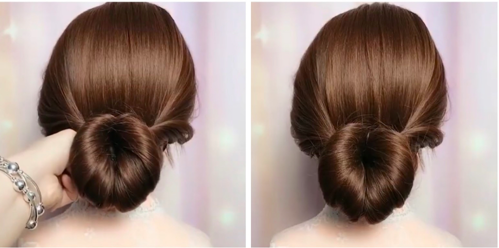quy trình búi tóc
