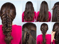 Hướng dẫn cách tự tết tóc xương cá cực xinh cho mùa hè