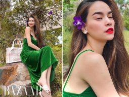 Lựa chọn mùa hè của Hồ Ngọc Hà: Sắc xanh ngọc lục bảo vương giả