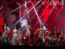Mẫu nhí Bảo Hà trình diễn sôi nổi không kém cạnh đàn chị trên sàn diễn Rap Việt All-Star Concert