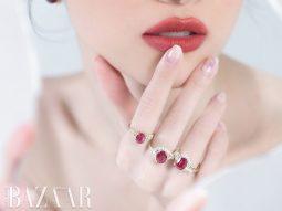 Ý tưởng chọn nhẫn đính hôn sang trọng: Hãy phối kim cương cùng hồng ngọc