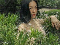 Mai Thanh Hà hóa quý cô Á Đông giữa khu vườn xanh mướt