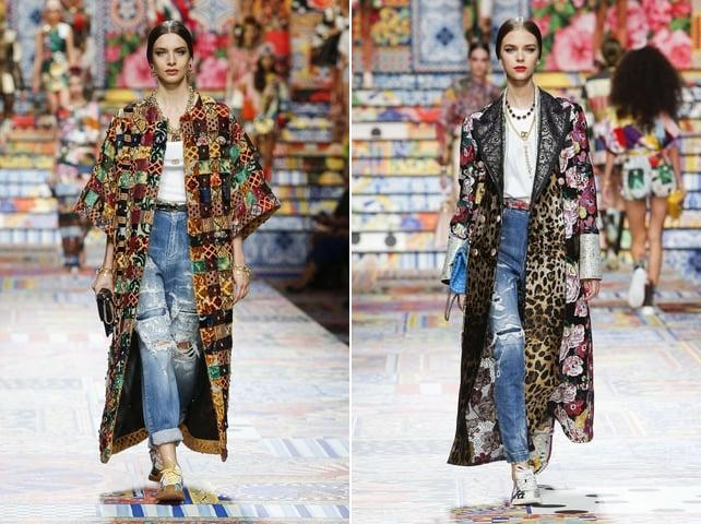 Cách phối đồ với quần jean ống rộng và áo khoác dài