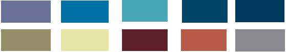 Phối xanh dương với các màu trung tính