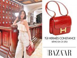 Lệ Quyên sử dụng một mẫu túi Hermès hot mà ít fashionista Việt biết đến