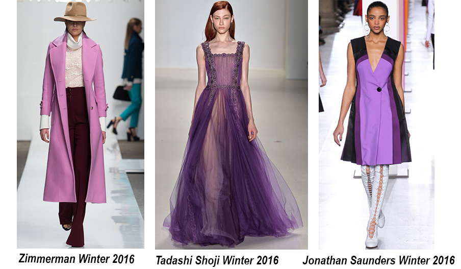 Các mẫu thiết kế của Zimmerman, Tadashi Shoji và Jonathan Saunders vào năm 2016