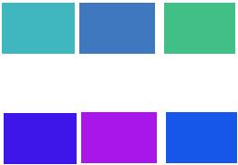 Phối xanh dương với màu cùng tông lạnh