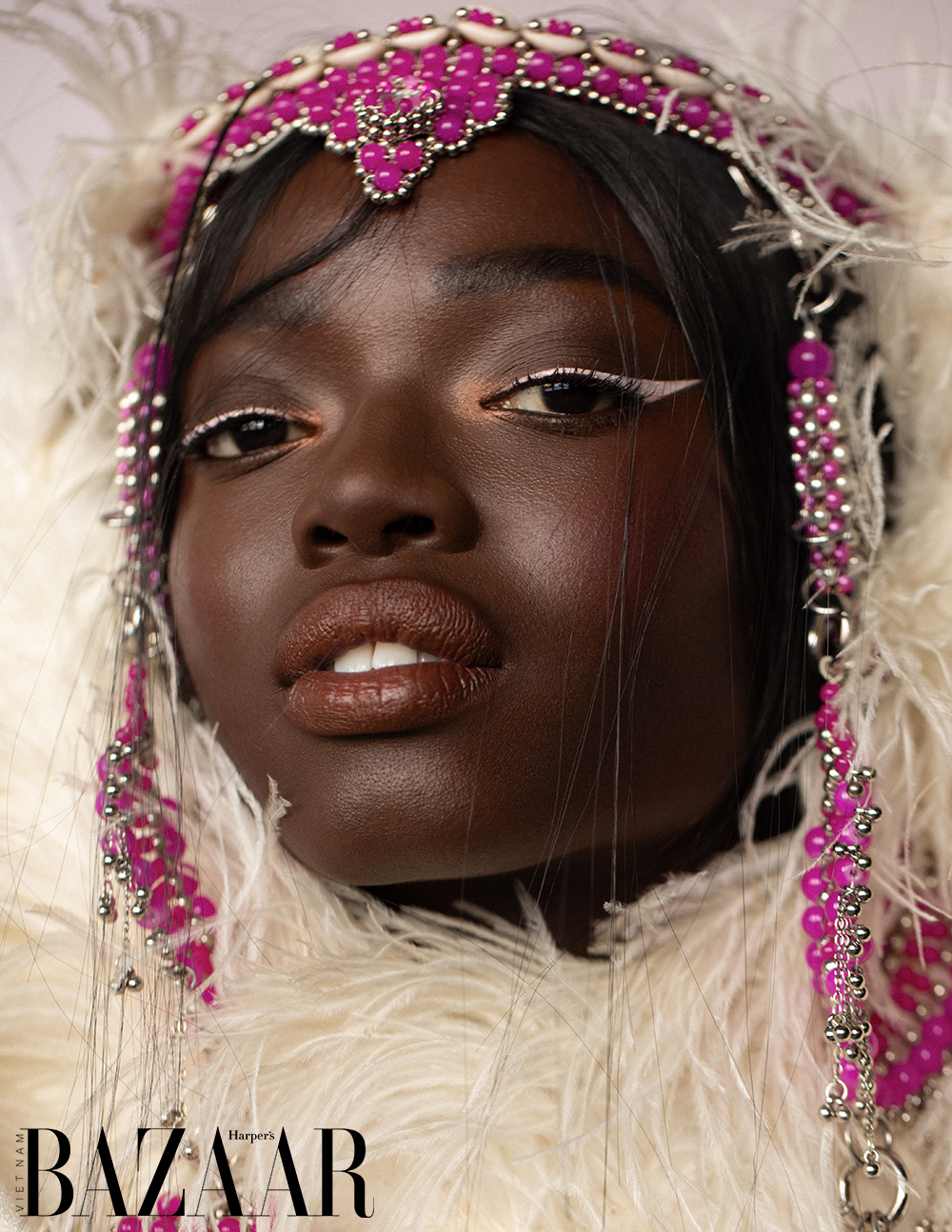 Siêu mẫu SouKenya Diouf đại diện cho vẻ đẹp xứ sở kim cương đen 1