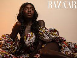 Siêu mẫu SouKenya Diouf đại diện cho vẻ đẹp xứ sở kim cương đen