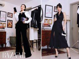 """""""Cô em Trendy"""" Khánh Linh gợi ý 5 cách phối đồ trắng đen thời thượng cho công sở"""
