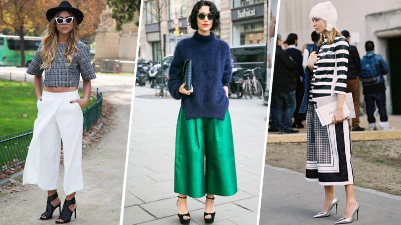 Cách phối đồ với quần culottes