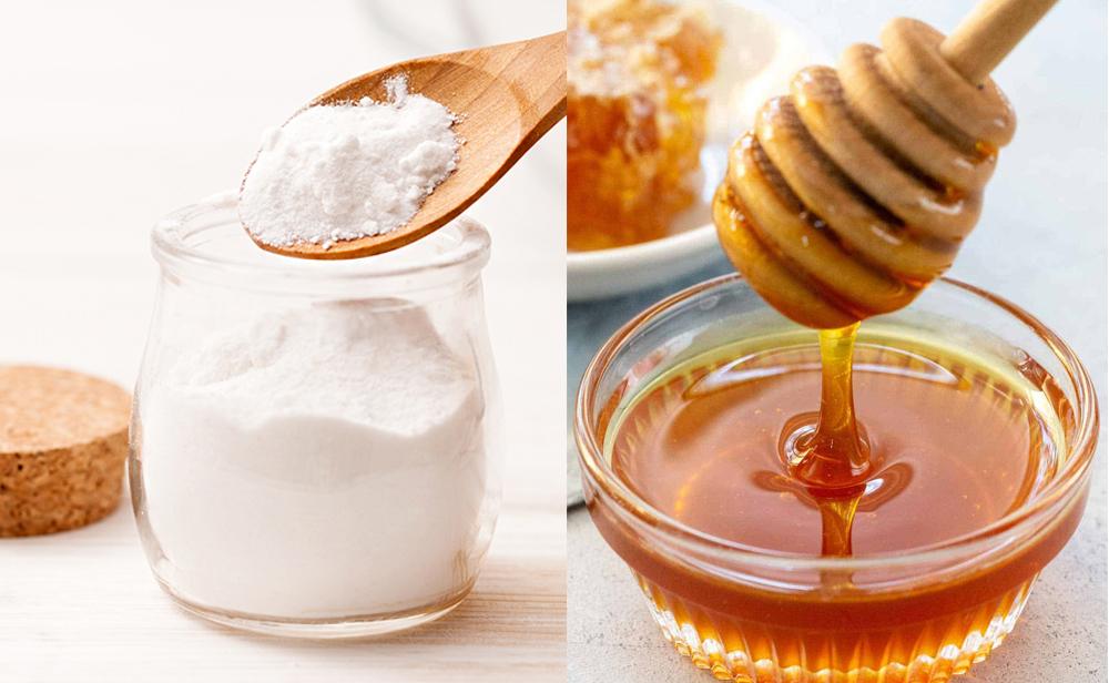 Dùng mật ong + baking soda trị thâm nách