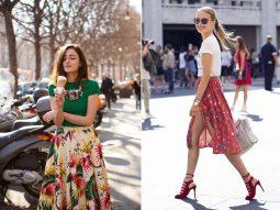 Chân váy hoa xòe mặc với áo gì? 7 kiểu áo thích hợp nhất cho bạn