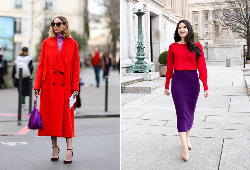 Màu tím kết hợp với màu gì thì đẹp?Tím và đỏ