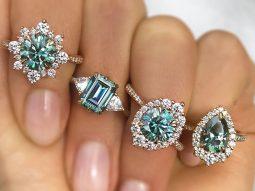 Đá moissanite màu fancy, lựa chọn giá mềm thay thế kim cương màu