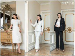 Á hậu Tú Anh khoe vẻ đẹp cổ điển với trang phục đen trắng từ I.H.F