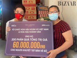 Hoa hậu Khánh Vân giúp đỡ người lao động nghèo, khuyết tật tại Sài Gòn
