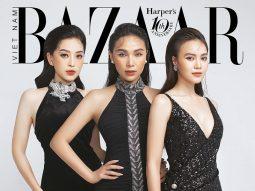 """""""Nhà Harper's Bazaar có 3 nàng tiên"""" là Lan Ngọc, Quỳnh Thư, Phương Nga"""