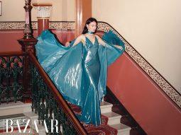 Bộ ảnh GLAMOUR: Người mẫu Thùy Trang thưởng trà chiều trong khách sạn cổ