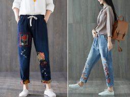 6 cách phối đồ với quần baggy jean lưng thun