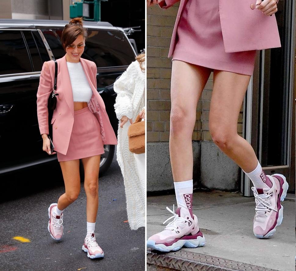 manggiày thể thao màu gì dễ phối đồ? màu hồng