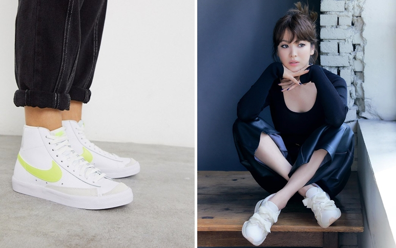 Song Hye Kyo phối giày trắng với quần đen