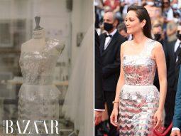 Chiếc đầm Marion Cotillard mặc trên thảm đỏ Cannes 2021 mất 322 tiếng đồng hồ để thực hiện