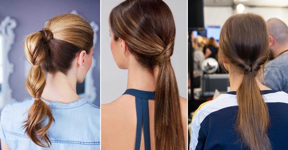 người gầy nên để tóc gì? tóc đuôi ngựa dạng xoắn (twisted ponytail)