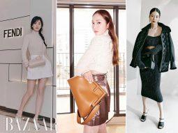 Song Hye Kyo, Jessica Jung kết hợp vẻ minimalist cùng brand tag với chiếc túi Fendi First