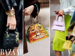 Túi mini thống trị street style tuần lễ thời trang Paris Haute Couture Thu Đông 2021