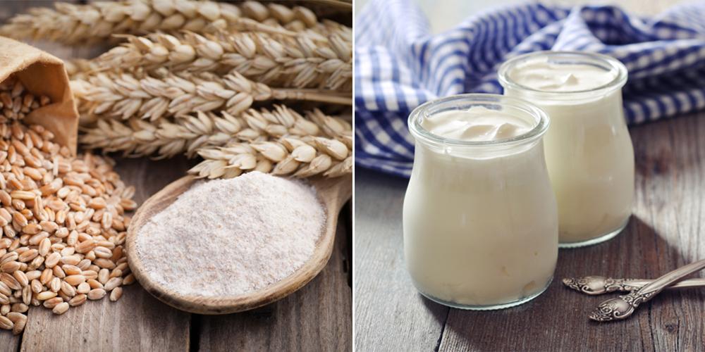Sử dụng bột mì tẩy tế bào chết