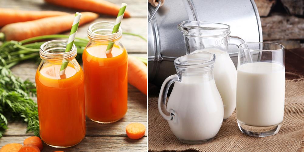Mặt nạ cà rốt, sữa tươi trị tàn nhang